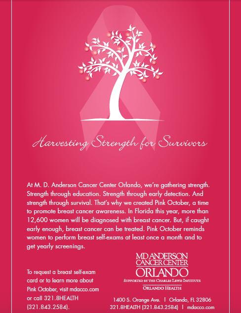 MD Anderson Cancer Center Orlando — Pink October
